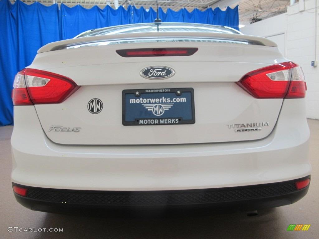 2012 Focus Titanium Sedan - White Platinum Tricoat Metallic / Charcoal Black photo #8