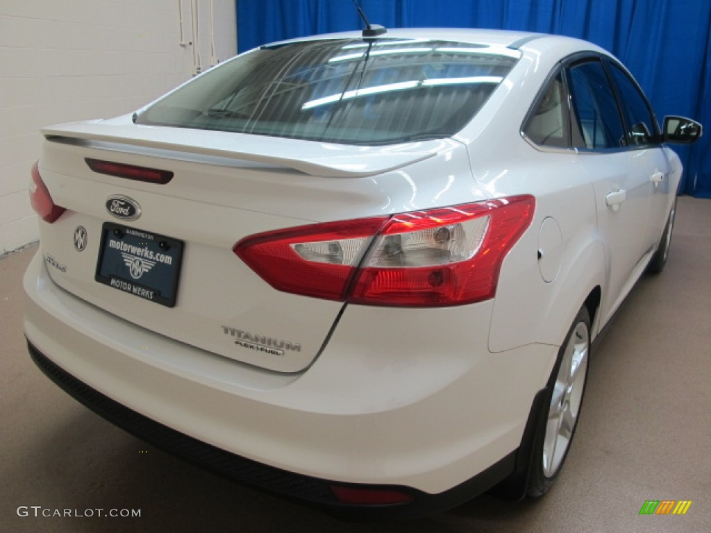 2012 Focus Titanium Sedan - White Platinum Tricoat Metallic / Charcoal Black photo #9