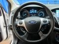 2012 White Platinum Tricoat Metallic Ford Focus Titanium Sedan  photo #30