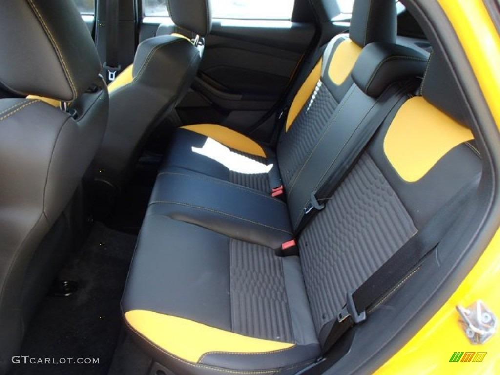 st tangerine scream charcoal black recaro sport seats interior 2014 ford focus st hatchback. Black Bedroom Furniture Sets. Home Design Ideas