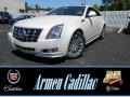 White Diamond Tricoat 2014 Cadillac CTS 4 Coupe AWD