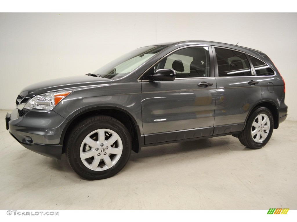 2011 CR-V SE - Polished Metal Metallic / Black photo #6