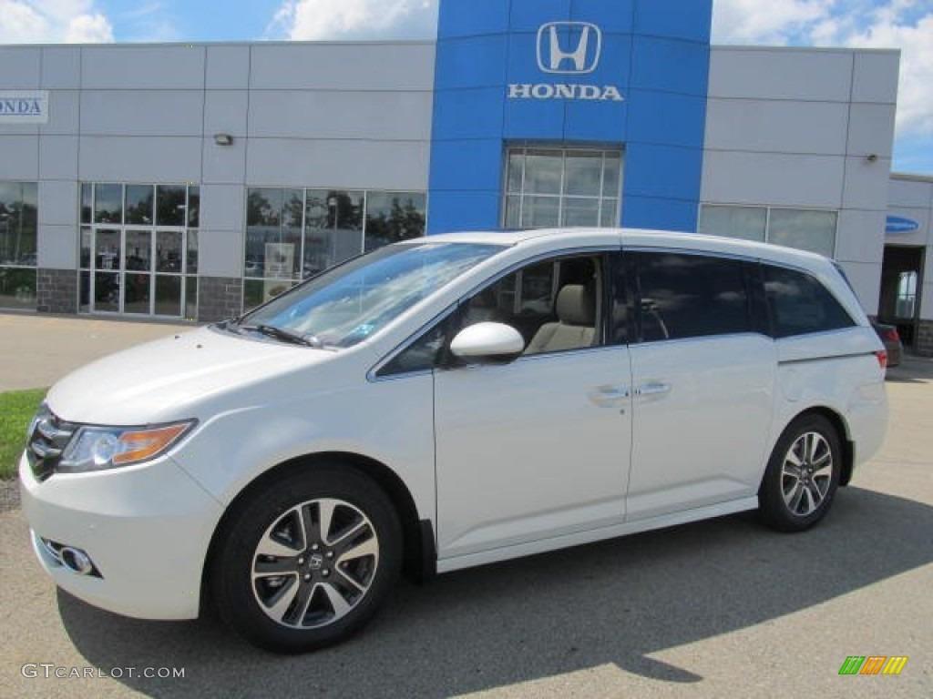 White Diamond Pearl 2014 Honda Odyssey Touring Elite Exterior Photo ...