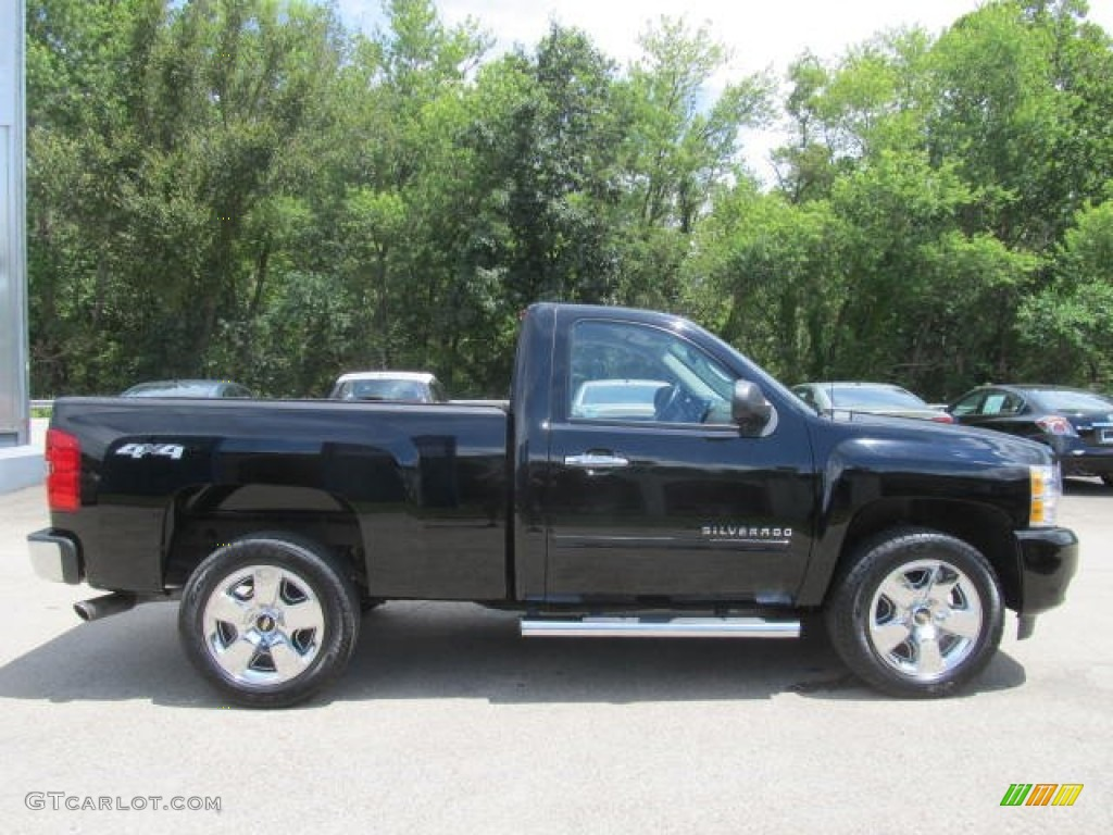 2011 Silverado 1500 LT Regular Cab 4x4 - Black / Light Titanium/Ebony photo #9