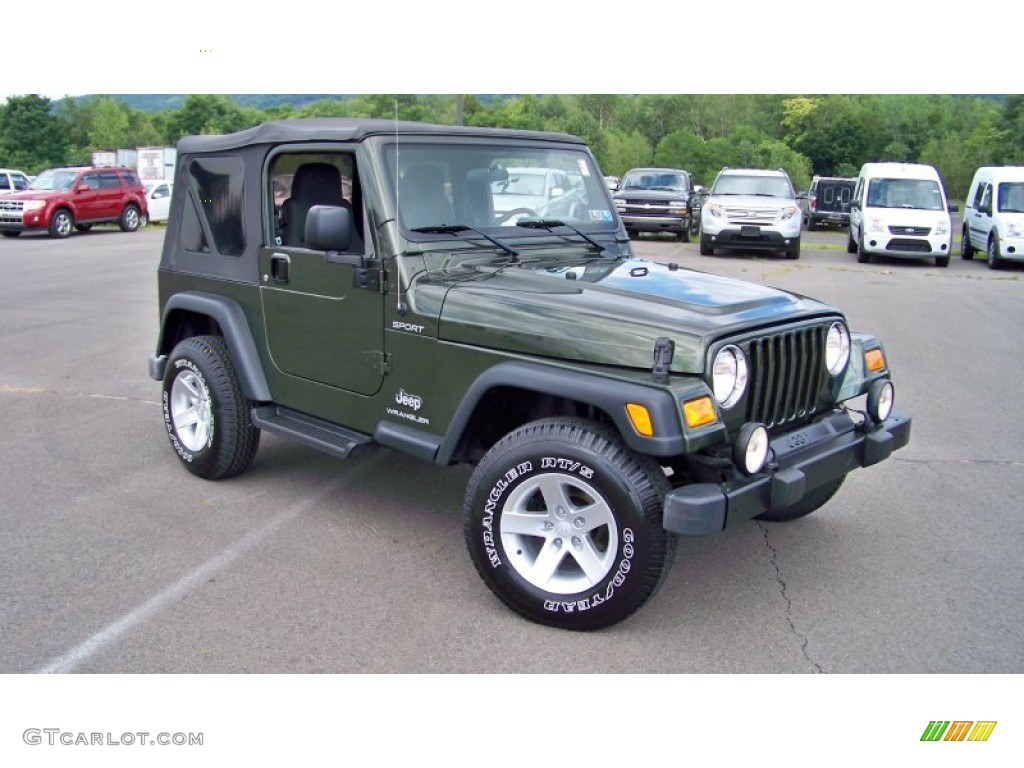 Jeep Green Metallic 2006 Jeep Wrangler Sport 4x4 Exterior