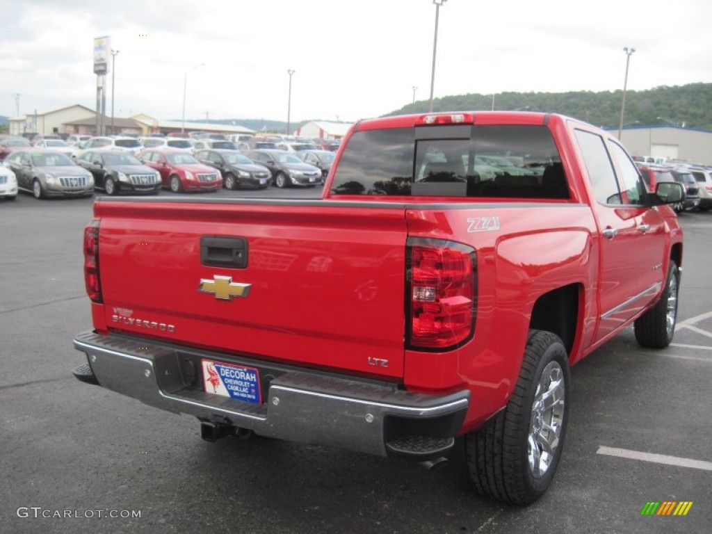 2014 victory red chevrolet silverado 1500 ltz z71 crew cab. Black Bedroom Furniture Sets. Home Design Ideas