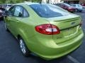 2013 Lime Squeeze Ford Fiesta SE Sedan  photo #4