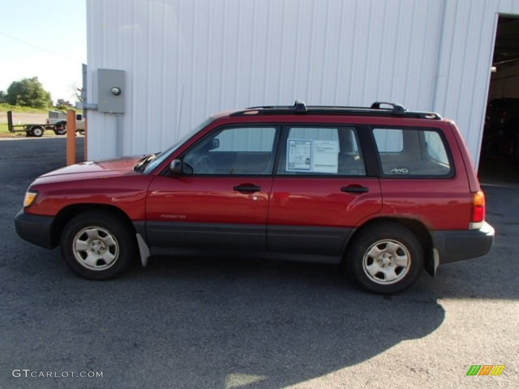 2000 canyon red pearl subaru forester 2 5 l 83991315. Black Bedroom Furniture Sets. Home Design Ideas