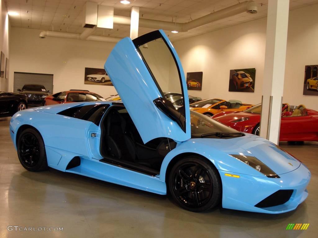 2008 Celeste Cepheus Sky Blue Lamborghini Murcielago