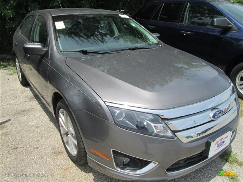 2011 Fusion SEL V6 - Sterling Grey Metallic / Charcoal Black photo #1