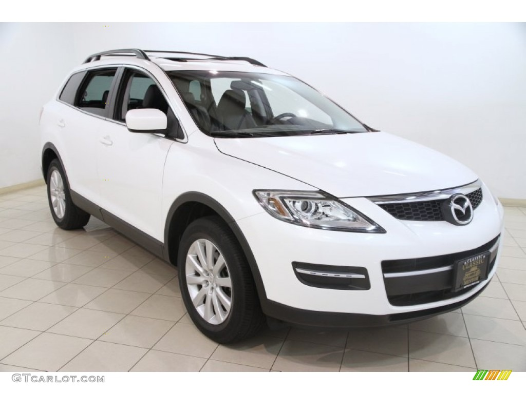 2008 crystal white pearl mica mazda cx 9 touring awd. Black Bedroom Furniture Sets. Home Design Ideas