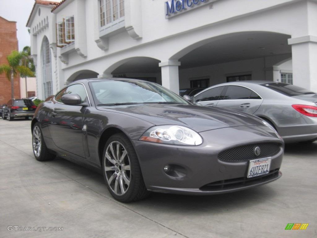 2008 pearl grey metallic jaguar xk xk8 coupe 84042625