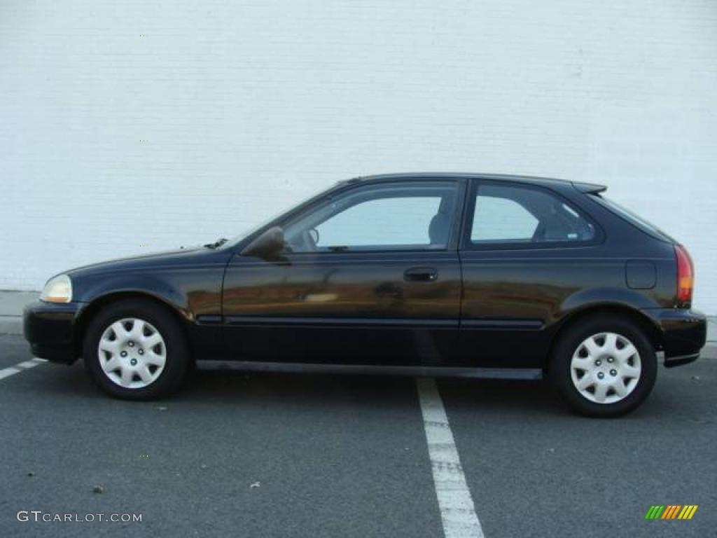 1998 flamenco black pearl honda civic dx hatchback 8401800 photo 3 car color. Black Bedroom Furniture Sets. Home Design Ideas