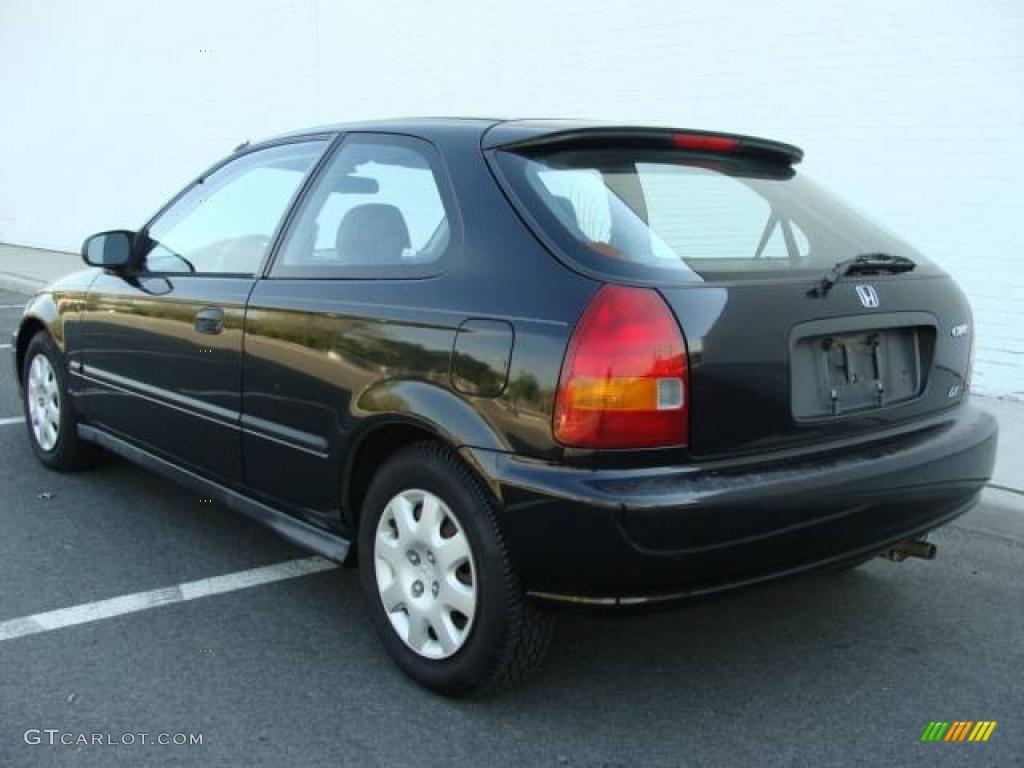 1998 flamenco black pearl honda civic dx hatchback 8401800 photo 4 car color. Black Bedroom Furniture Sets. Home Design Ideas