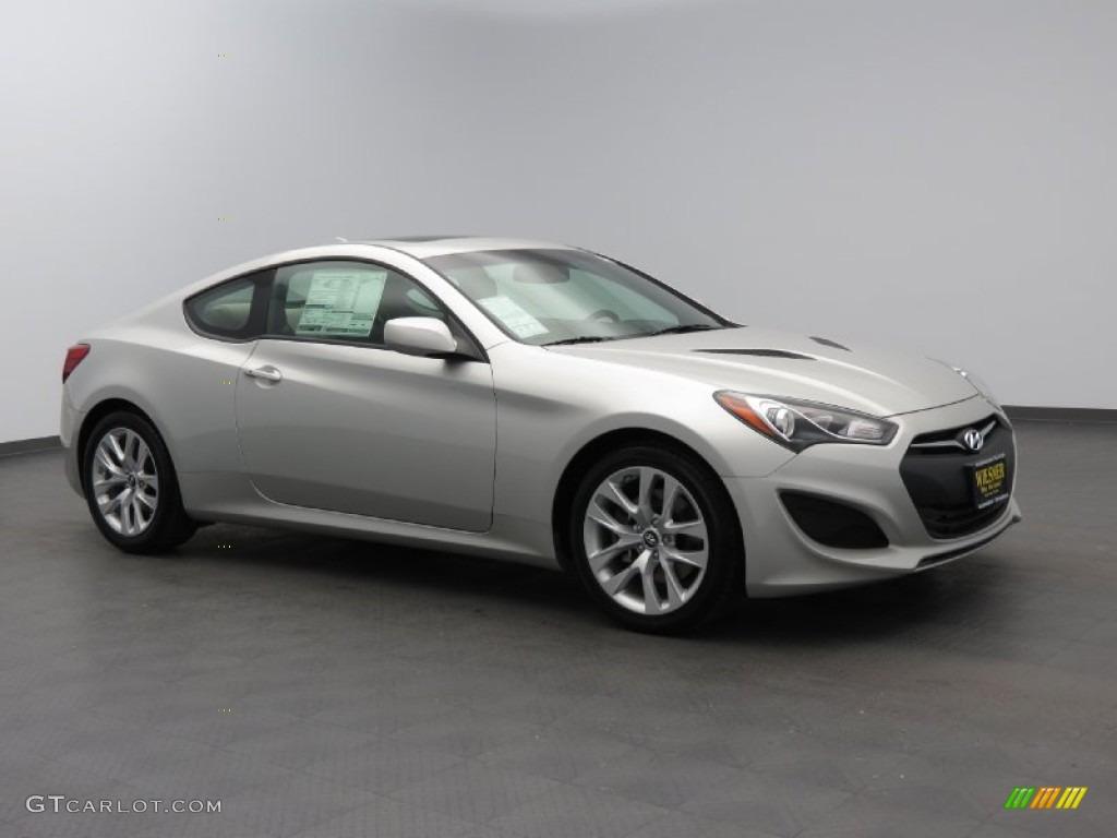 2013 Genesis Coupe 2.0T Premium - Platinum Metallic / Black Cloth photo #1