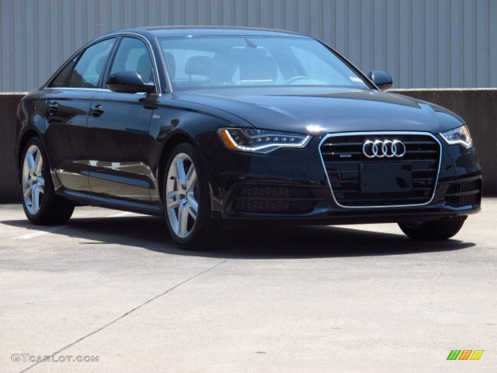 2014 phantom black pearl audi a6 3 0t quattro sedan 84093408 car color galleries. Black Bedroom Furniture Sets. Home Design Ideas