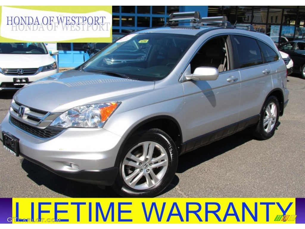 2010 CR-V EX-L AWD - Alabaster Silver Metallic / Gray photo #1