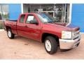 2013 Deep Ruby Metallic Chevrolet Silverado 1500 LT Extended Cab 4x4  photo #11
