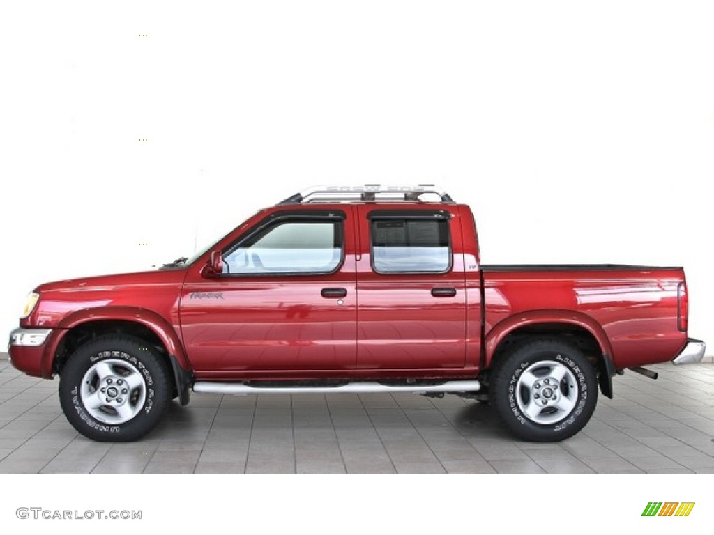 Salsa Red 2000 Nissan Frontier Se Crew Cab Exterior Photo