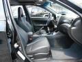 2011 Subaru Impreza STI Carbon Black Leather Interior Front Seat Photo