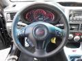 2011 Subaru Impreza STI Carbon Black Leather Interior Steering Wheel Photo
