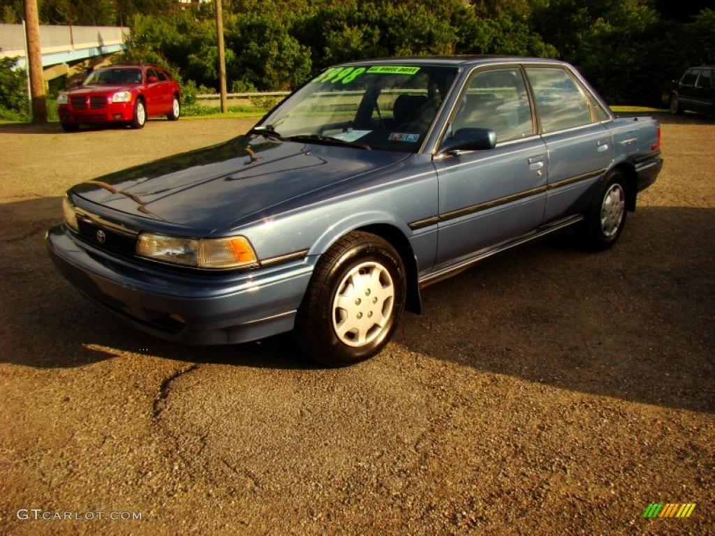 1991 dark blue pearl metallic toyota camry le awd sedan 84135945 car color. Black Bedroom Furniture Sets. Home Design Ideas