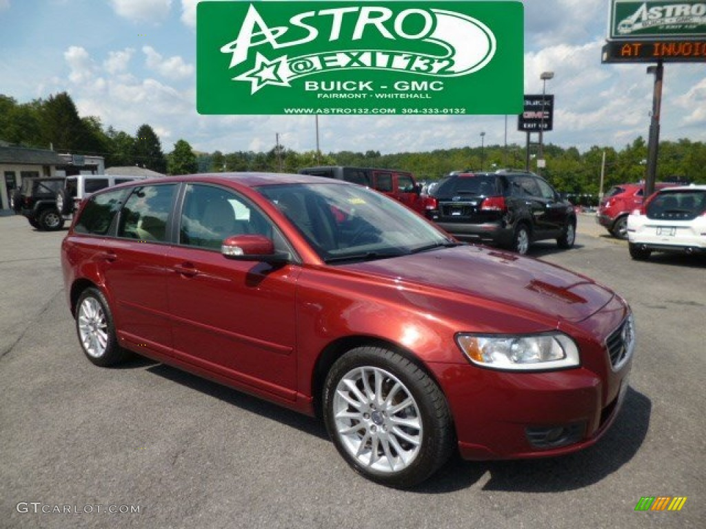2011 Flamenco Red Metallic Volvo V50 T5 84136074 Gtcarlot Com Car Color Galleries