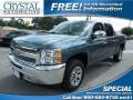 2012 Blue Granite Metallic Chevrolet Silverado 1500 LS Crew Cab  photo #1