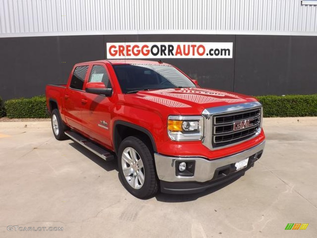 2014 fire red gmc sierra 1500 sle crew cab 84135879 car color galleries. Black Bedroom Furniture Sets. Home Design Ideas