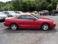 1996 Laser Red Metallic Ford Mustang V6 Convertible  photo #1