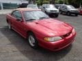 1996 Laser Red Metallic Ford Mustang V6 Convertible  photo #2