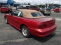 1996 Laser Red Metallic Ford Mustang V6 Convertible  photo #6