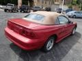 1996 Laser Red Metallic Ford Mustang V6 Convertible  photo #8