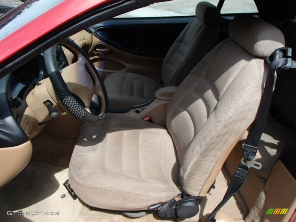 1996 Mustang V6 Convertible - Laser Red Metallic / Beige photo #10