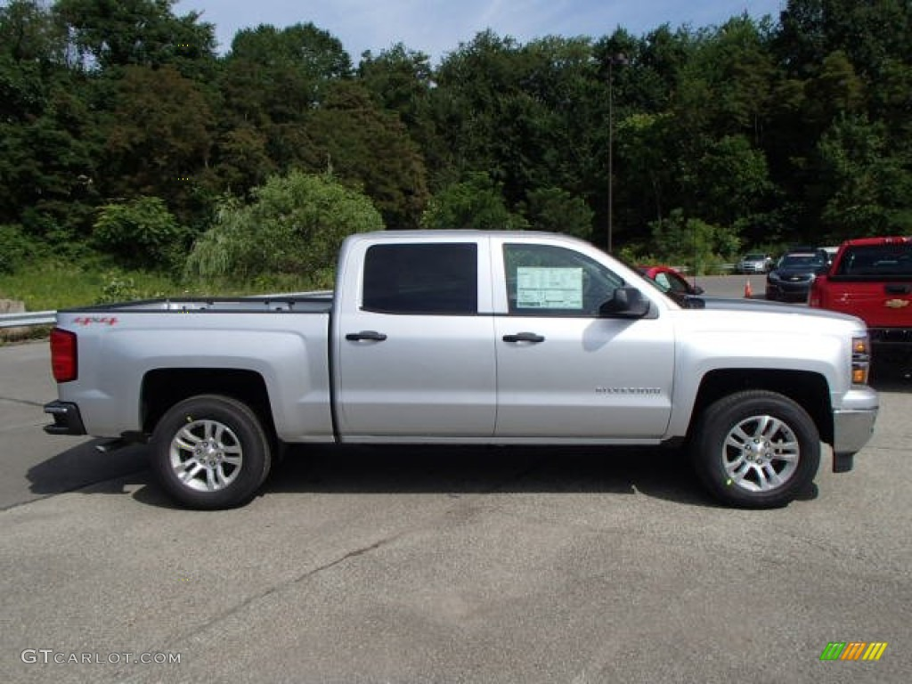 2014 silver ice metallic chevrolet silverado 1500 lt crew cab 4x4 84217060 car. Black Bedroom Furniture Sets. Home Design Ideas