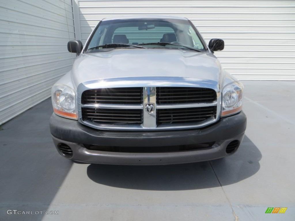 2006 Ram 1500 Laramie Quad Cab - Bright Silver Metallic / Medium Slate Gray photo #8