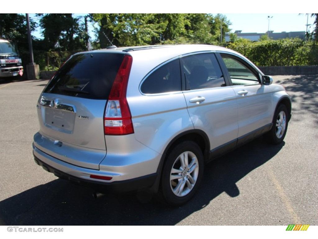 2010 CR-V EX-L AWD - Alabaster Silver Metallic / Black photo #6