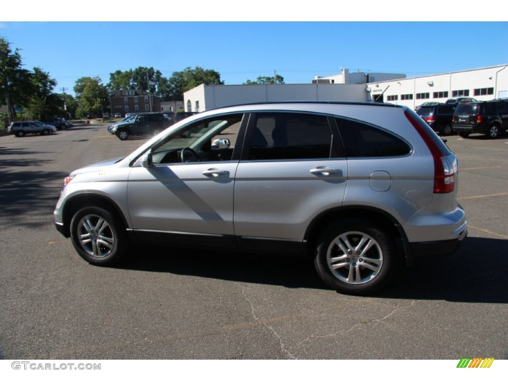 2010 CR-V EX-L AWD - Alabaster Silver Metallic / Black photo #11