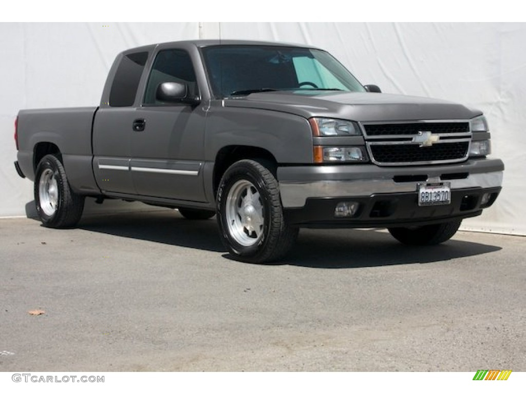 2006 Silverado 1500 LS Extended Cab - Graystone Metallic / Dark Charcoal photo #1
