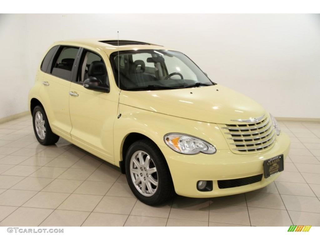 2007 PT Cruiser Limited - Pastel Yellow / Pastel Slate Gray photo #1