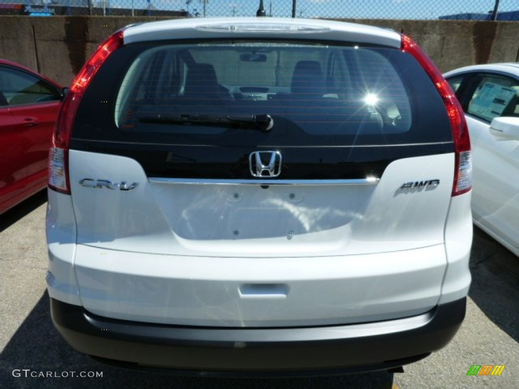 2013 CR-V LX AWD - White Diamond Pearl / Gray photo #5