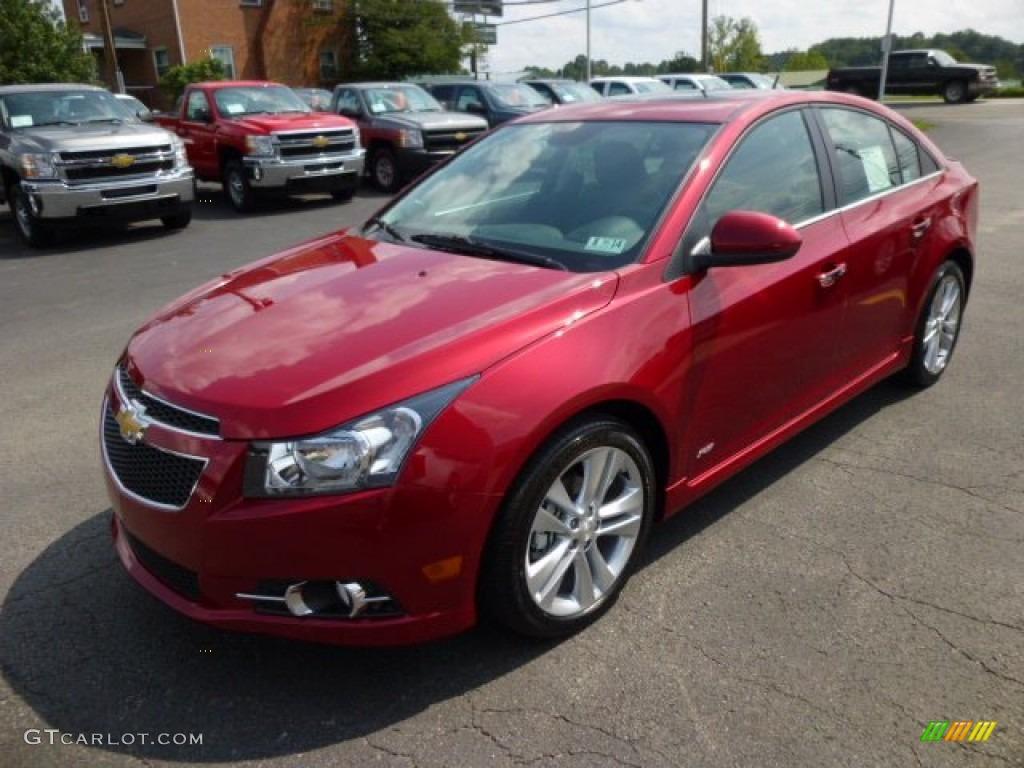 Crystal Red Tintcoat 2014 Chevrolet Cruze Ltz Exterior Photo 84390170