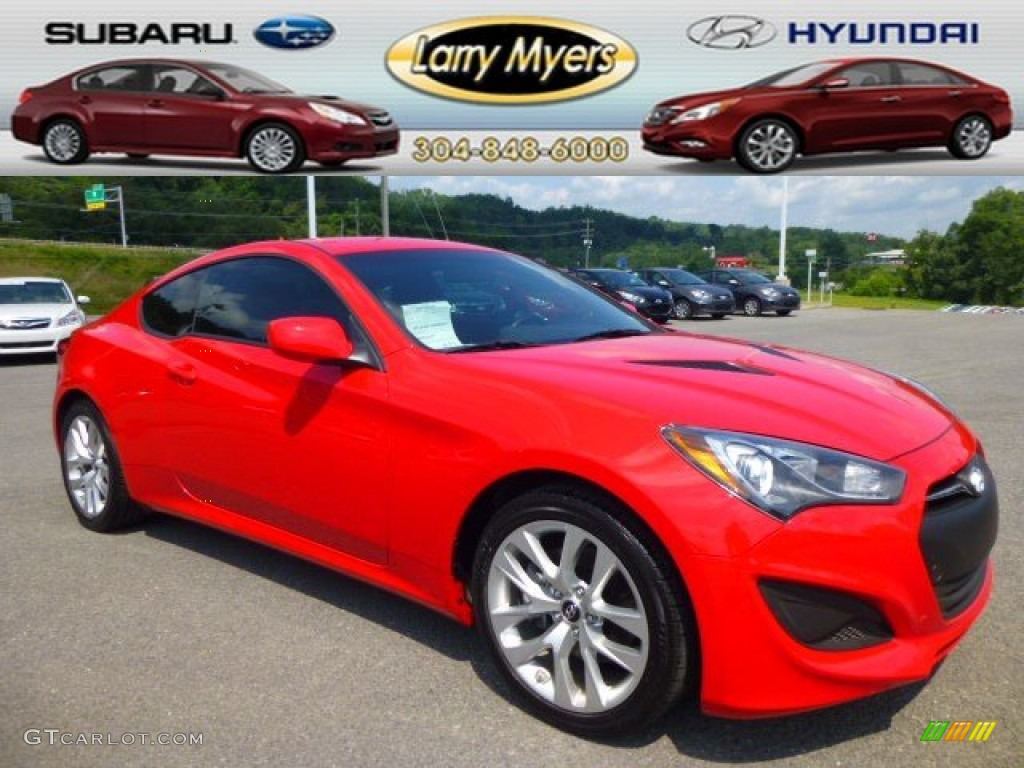 2013 Genesis Coupe 2.0T - Tsukuba Red / Black Cloth photo #1