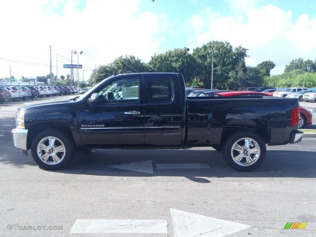 2013 Silverado 1500 LT Extended Cab - Black / Ebony photo #3