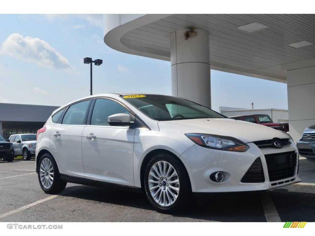 2012 Focus Titanium 5-Door - White Platinum Tricoat Metallic / Charcoal Black photo #1
