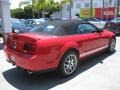 2007 Torch Red Ford Mustang Shelby GT500 Convertible  photo #2