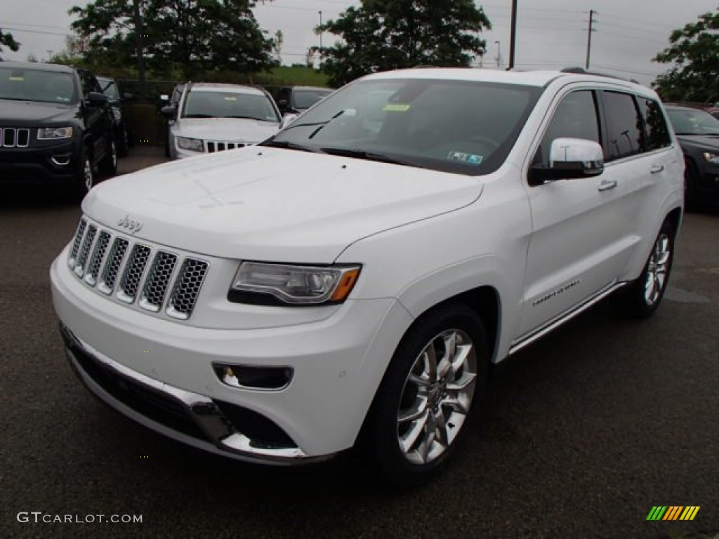 bright white 2014 jeep grand cherokee summit 4x4 exterior photo 84432995. Black Bedroom Furniture Sets. Home Design Ideas