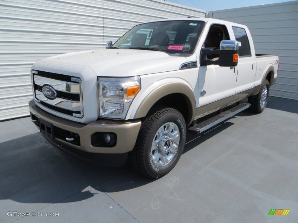2014 White Platinum Tri Coat Ford F250 Super Duty King Ranch Crew Cab 4x4 84404119 Photo 7