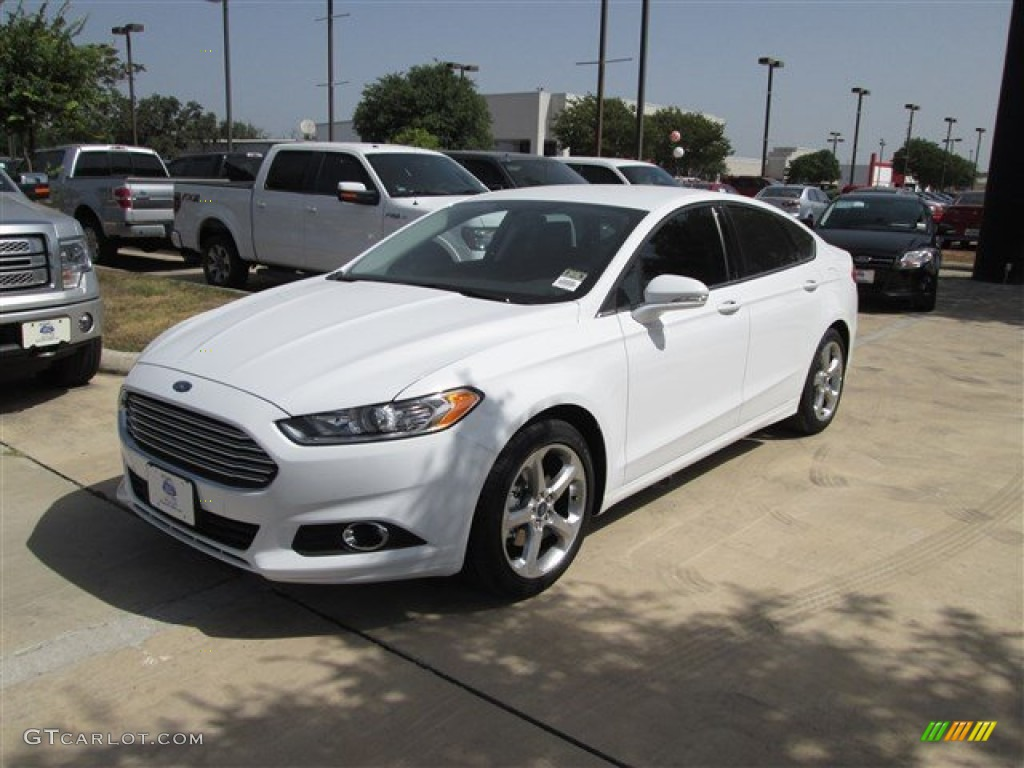 2013 Fusion SE 1.6 EcoBoost - Oxford White / Charcoal Black photo #1