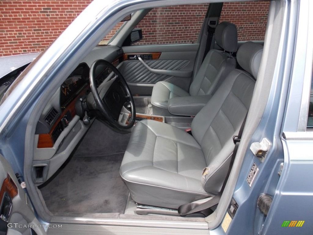 Grey interior 1991 mercedes benz s class 350 sdl photo 84458552